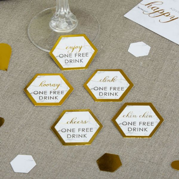 Scripted Marble Drinks Tokens (25)